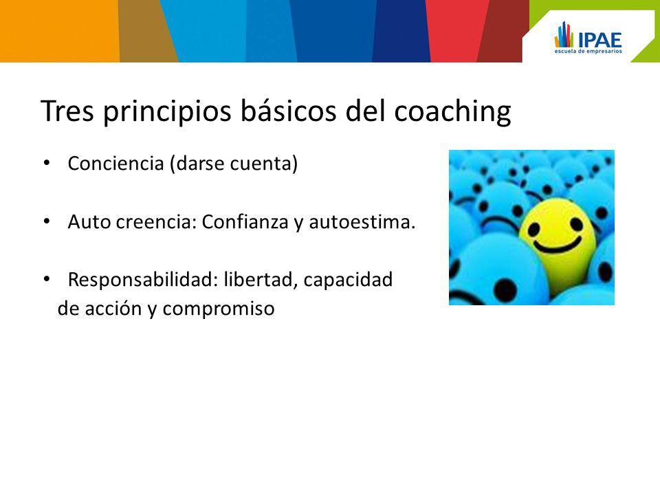 Tres principios básicos del coaching