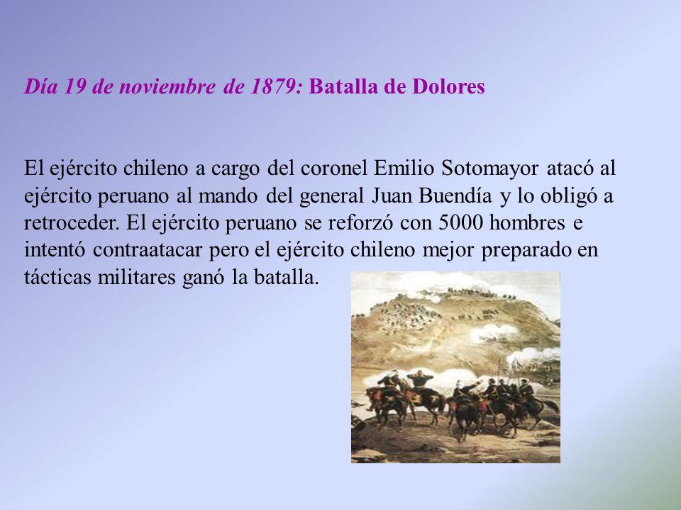 Día 19 de noviembre de 1879: Batalla de Dolores