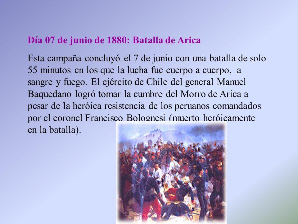 Día 07 de junio de 1880: Batalla de Arica