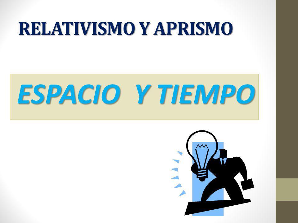 RELATIVISMO Y APRISMO ESPACIO Y TIEMPO