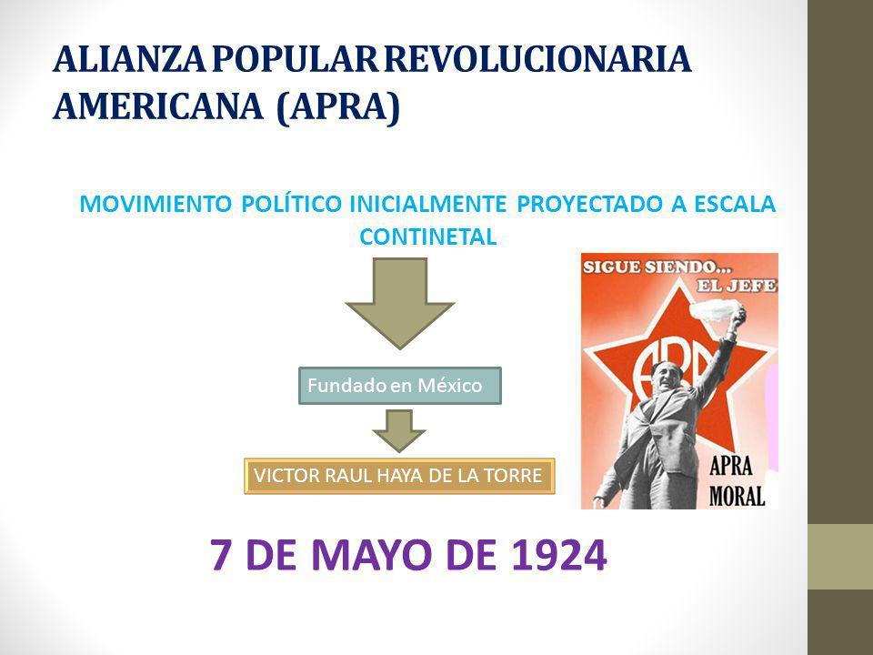 ALIANZA POPULAR REVOLUCIONARIA AMERICANA (APRA)