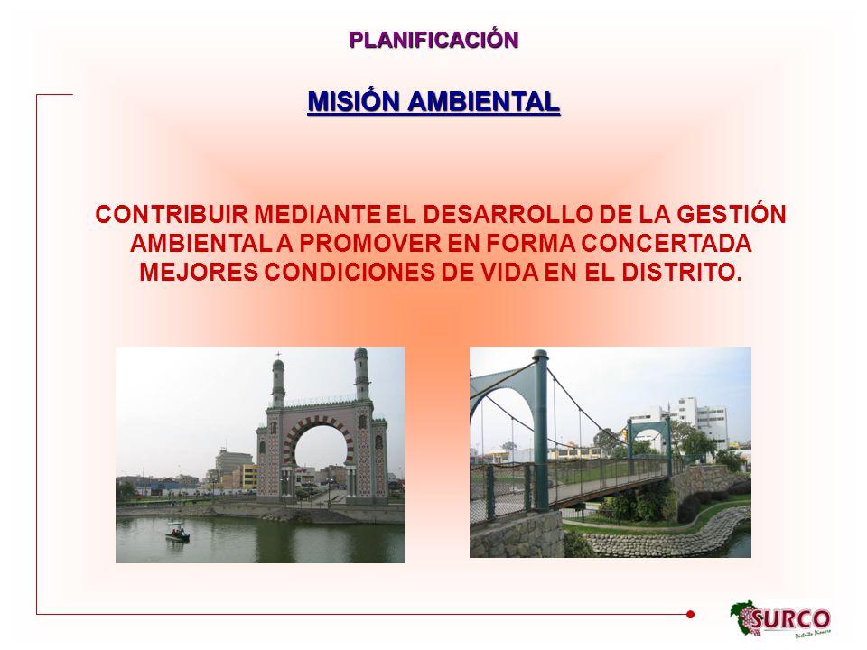 PLANIFICACIÓN MISIÓN AMBIENTAL.