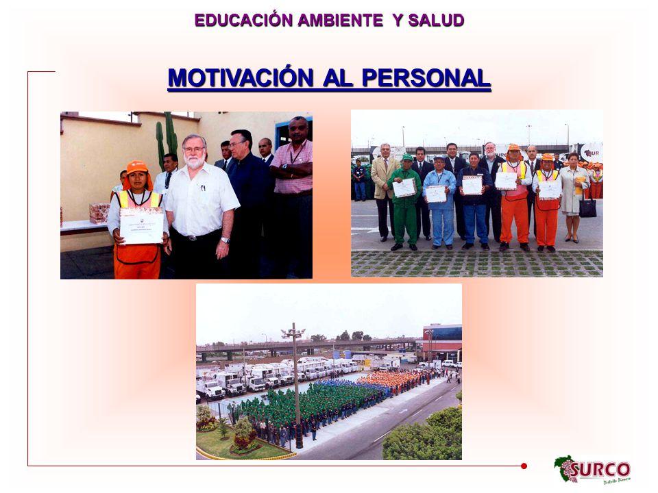 EDUCACIÓN AMBIENTE Y SALUD MOTIVACIÓN AL PERSONAL