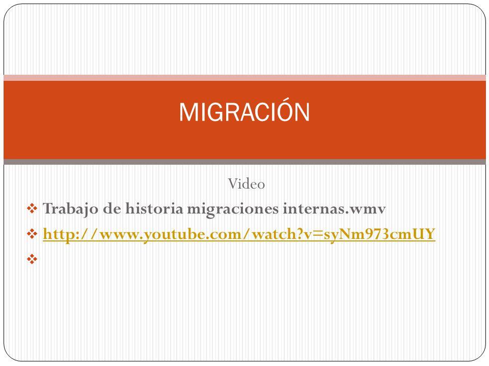 MIGRACIÓN Video Trabajo de historia migraciones internas.wmv