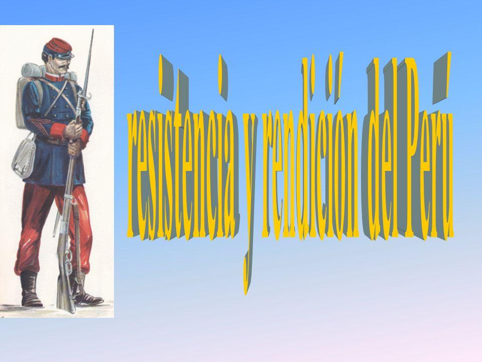 resistencia y rendición del Perú
