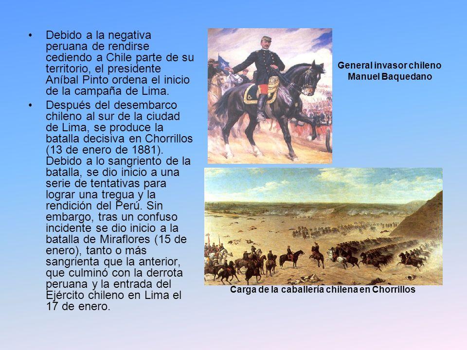 Debido a la negativa peruana de rendirse cediendo a Chile parte de su territorio, el presidente Aníbal Pinto ordena el inicio de la campaña de Lima.