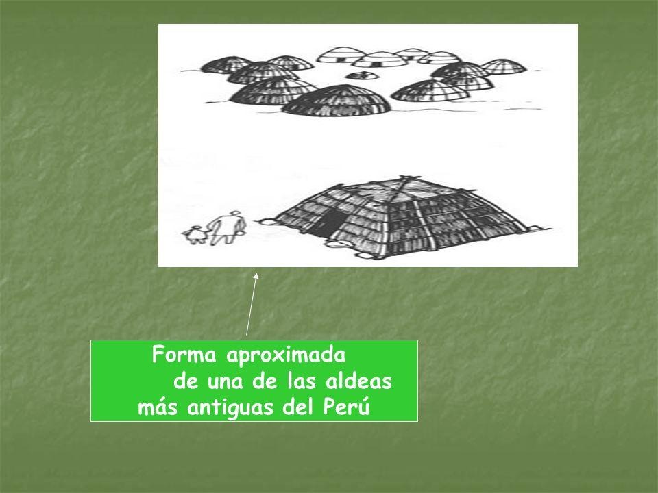 Forma aproximada de una de las aldeas más antiguas del Perú