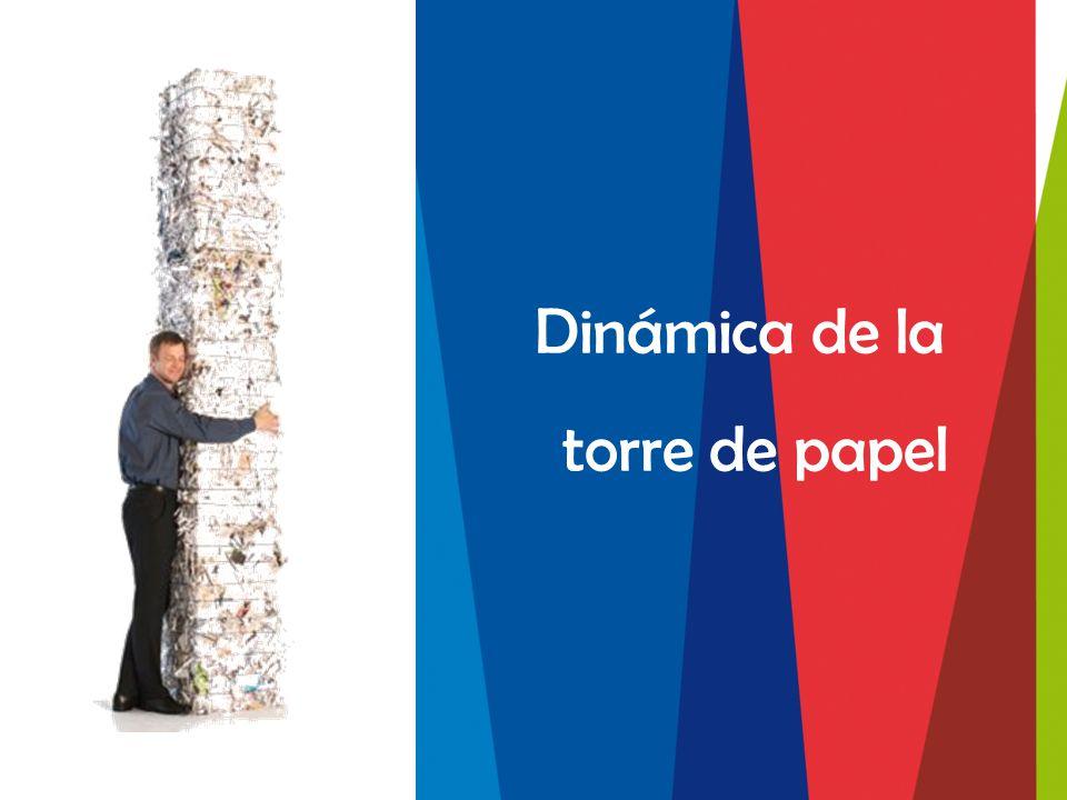 Dinámica de la torre de papel