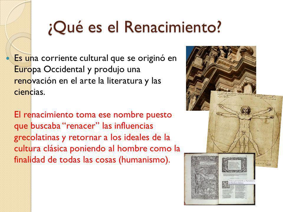 ¿Qué es el Renacimiento