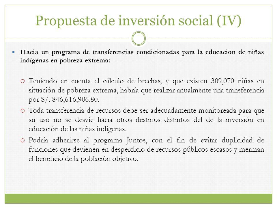 Propuesta de inversión social (IV)