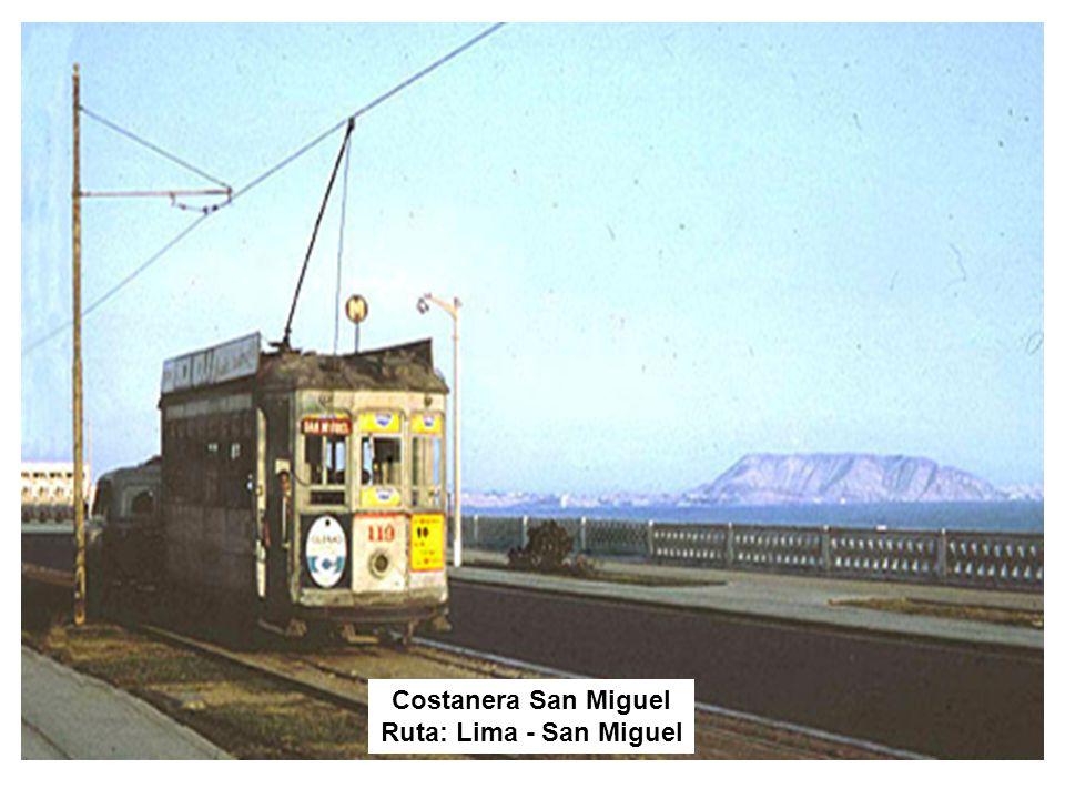 Costanera San Miguel Ruta: Lima - San Miguel