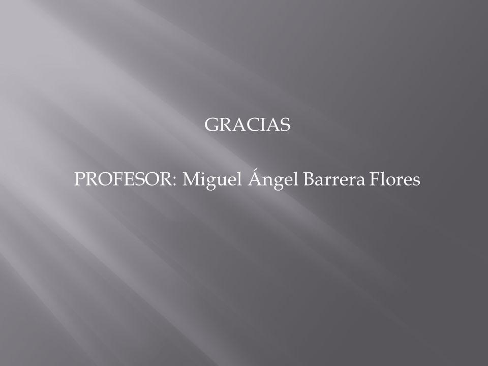 GRACIAS PROFESOR: Miguel Ángel Barrera Flores