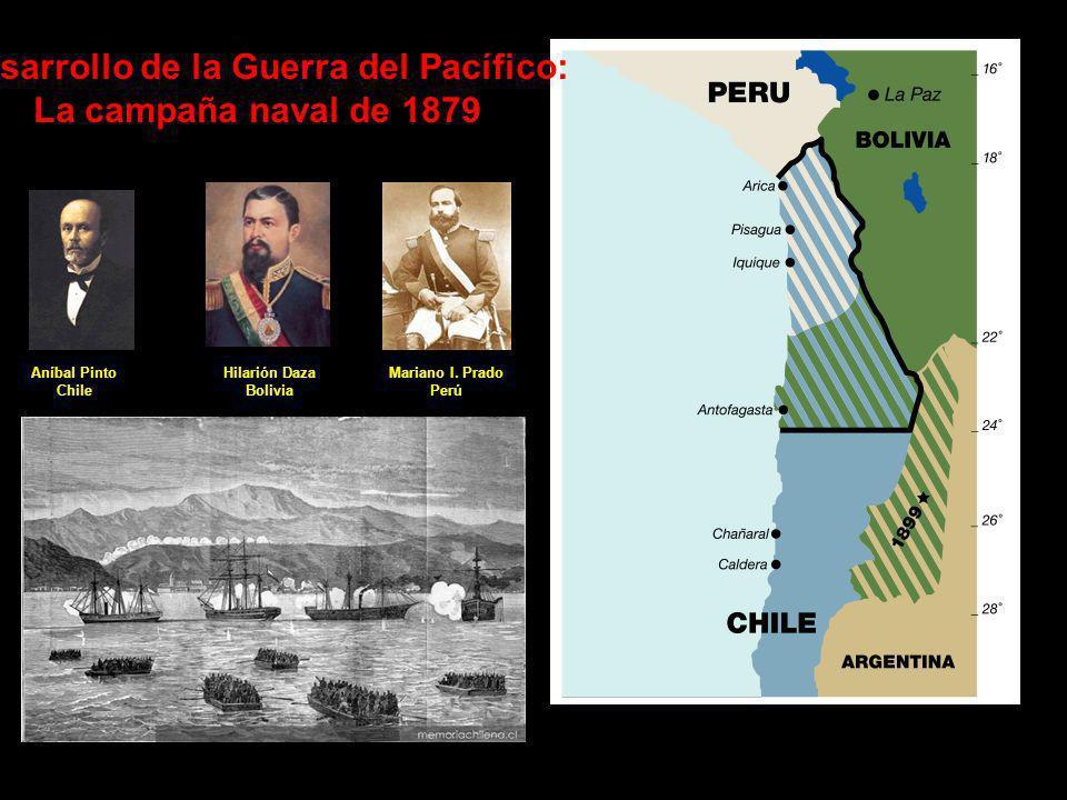 Desarrollo de la Guerra del Pacífico: