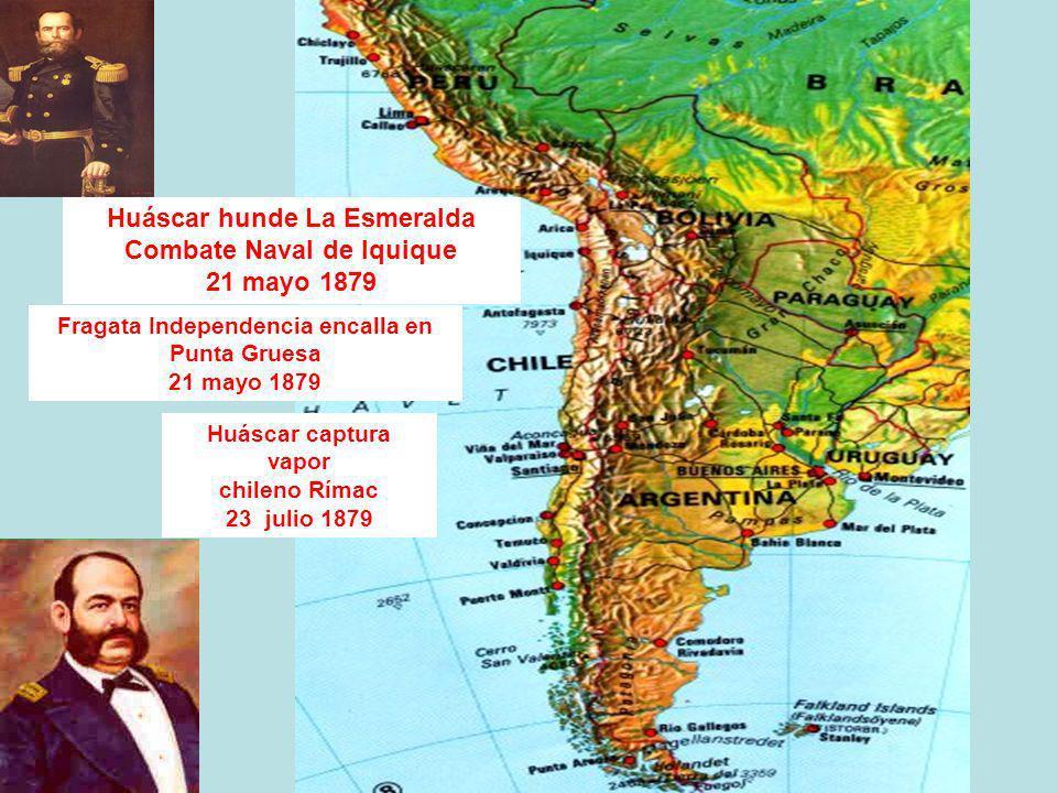 Huáscar hunde La Esmeralda Combate Naval de Iquique 21 mayo 1879