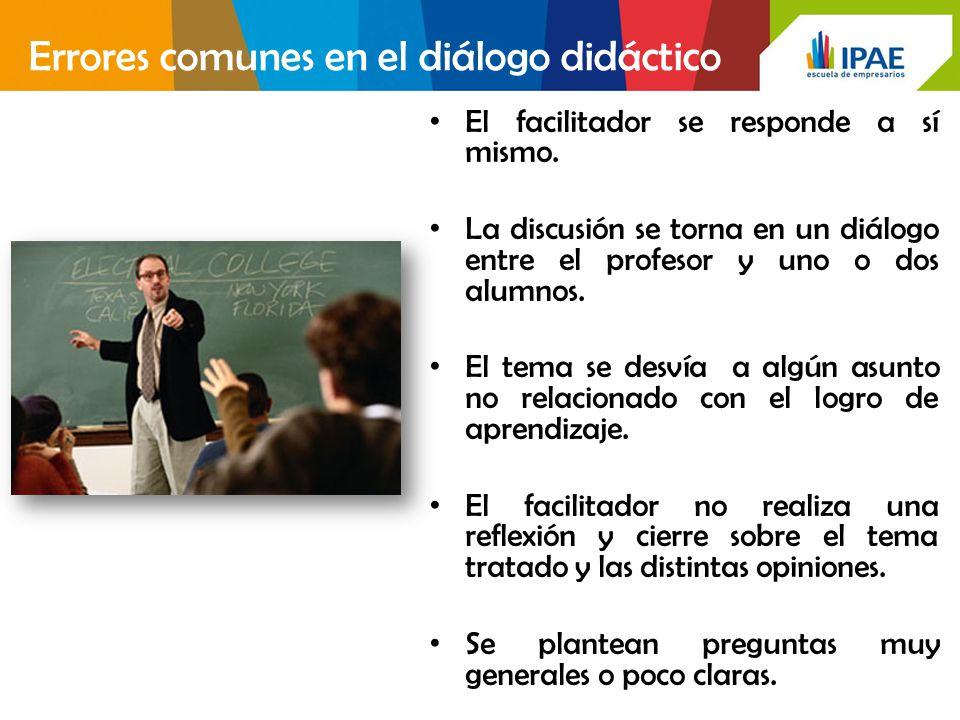 Errores comunes en el diálogo didáctico