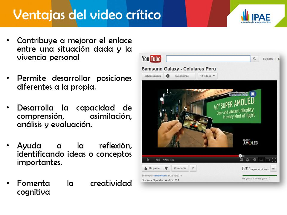 Ventajas del video crítico