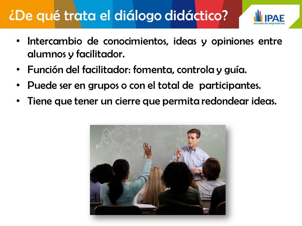¿De qué trata el diálogo didáctico