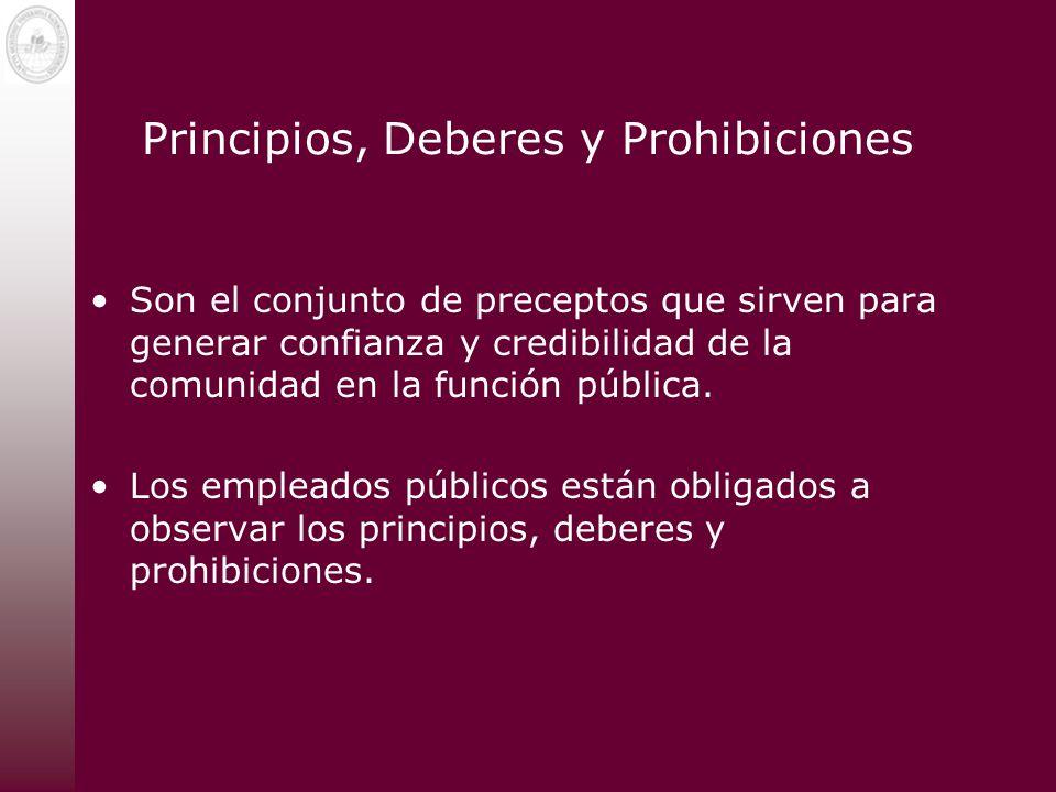 Principios, Deberes y Prohibiciones