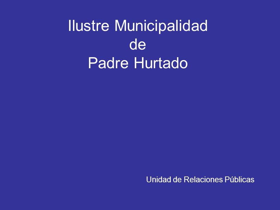 Ilustre Municipalidad de Padre Hurtado