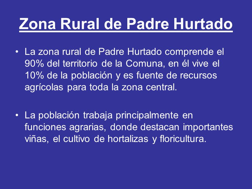 Zona Rural de Padre Hurtado