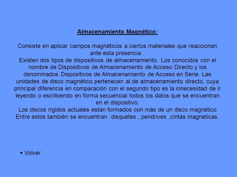Almacenamiento Magnético: