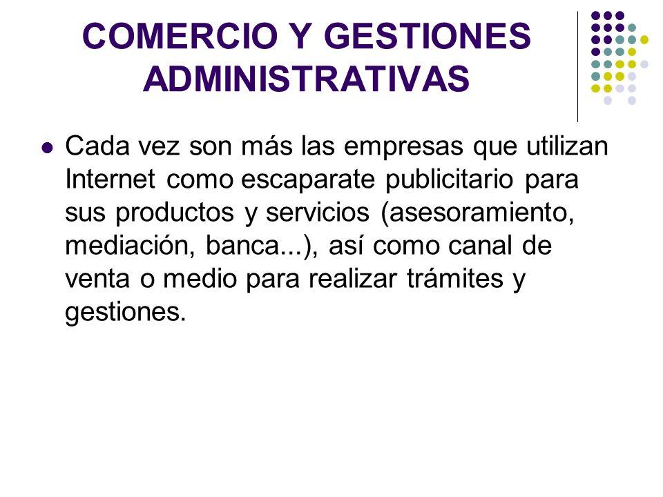 COMERCIO Y GESTIONES ADMINISTRATIVAS