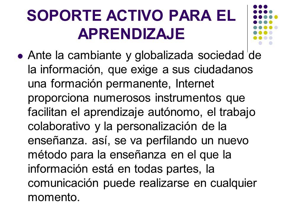 SOPORTE ACTIVO PARA EL APRENDIZAJE