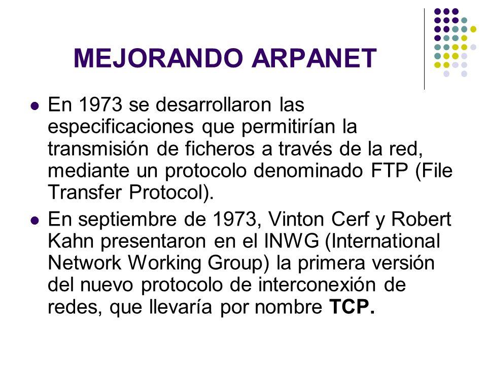 MEJORANDO ARPANET
