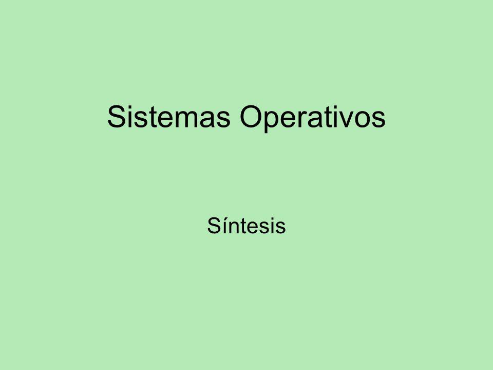 Sistemas Operativos Síntesis