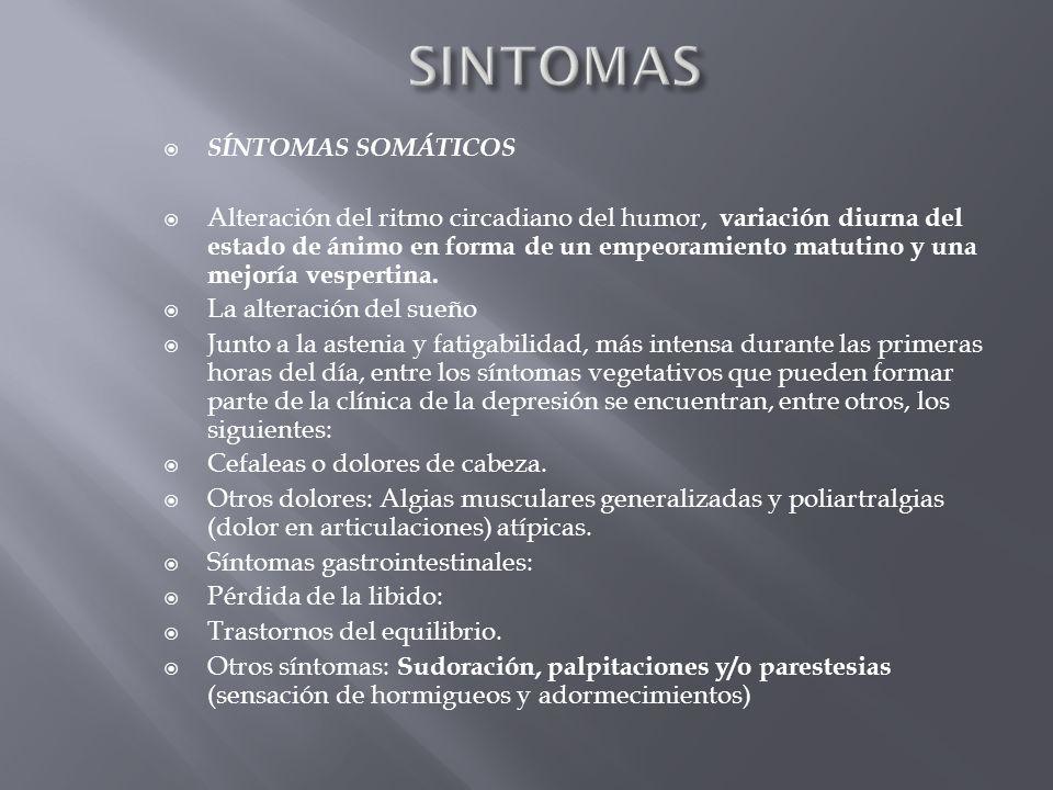 SINTOMAS SÍNTOMAS SOMÁTICOS