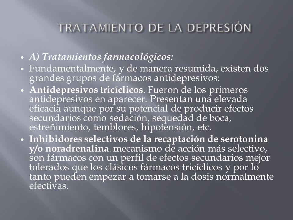 TRATAMIENTO DE LA DEPRESIÓN