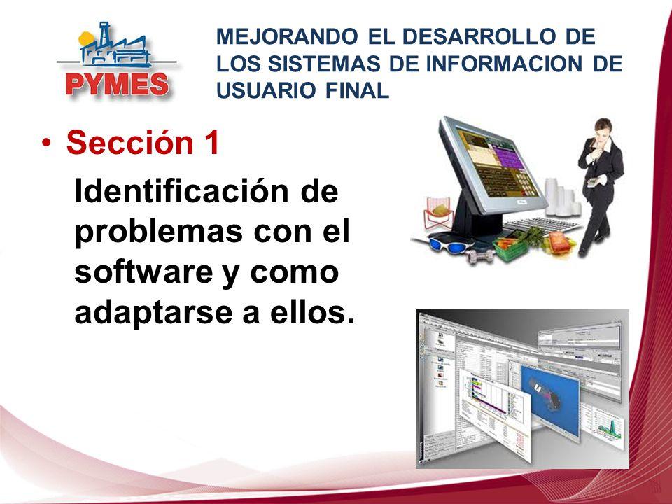 Identificación de problemas con el software y como adaptarse a ellos.