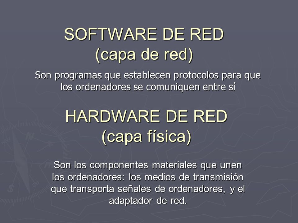 SOFTWARE DE RED (capa de red)