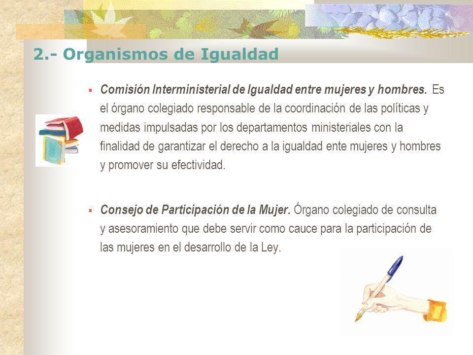 2.- Organismos de Igualdad