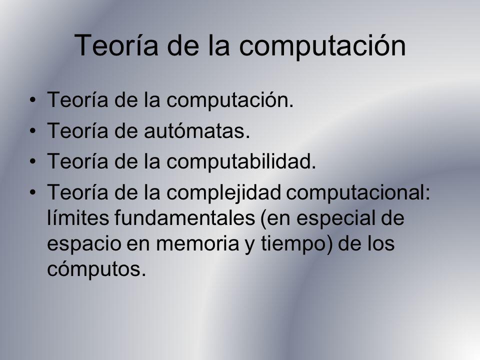 Teoría de la computación