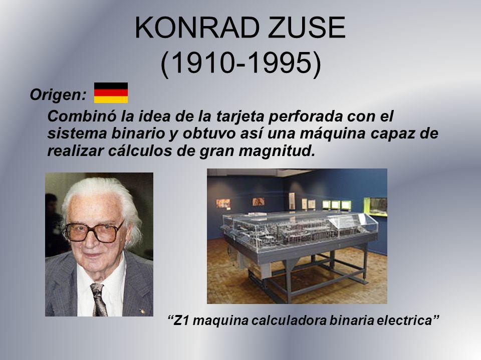 KONRAD ZUSE (1910-1995) Origen: