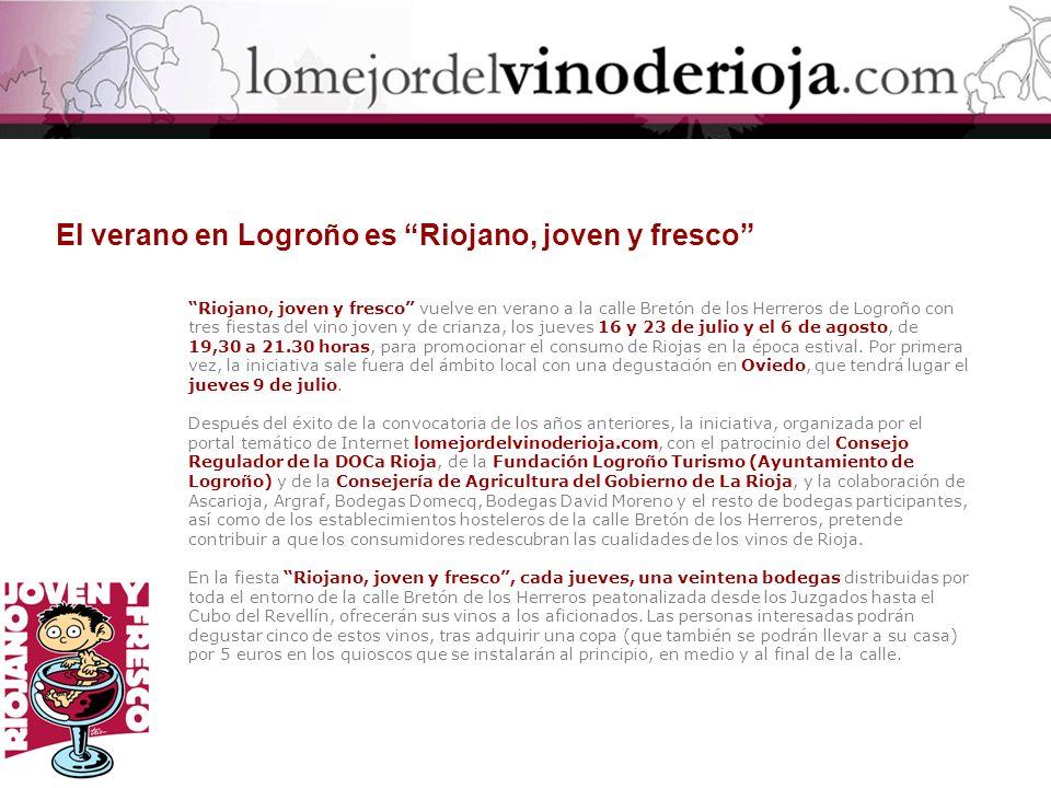 El verano en Logroño es Riojano, joven y fresco