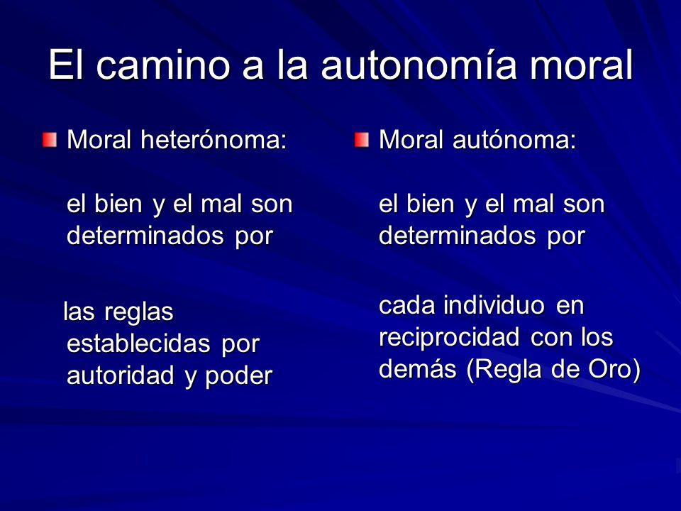 El camino a la autonomía moral