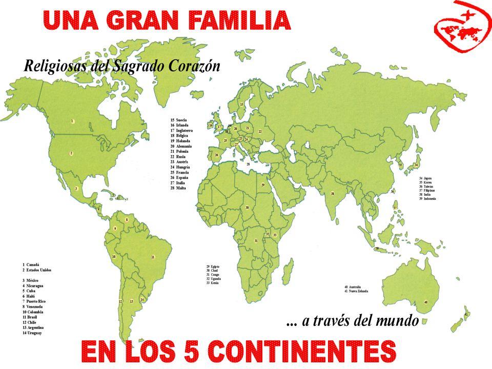 UNA GRAN FAMILIA EN LOS 5 CONTINENTES