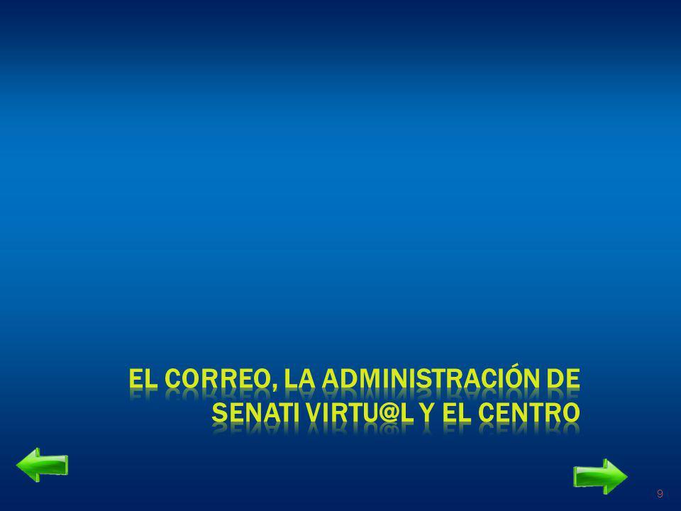EL CORREO, LA ADMINISTRACIÓN DE SENATI VIRTU@L Y EL CENTRO