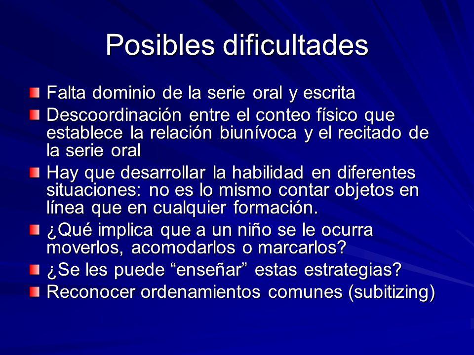 Posibles dificultades
