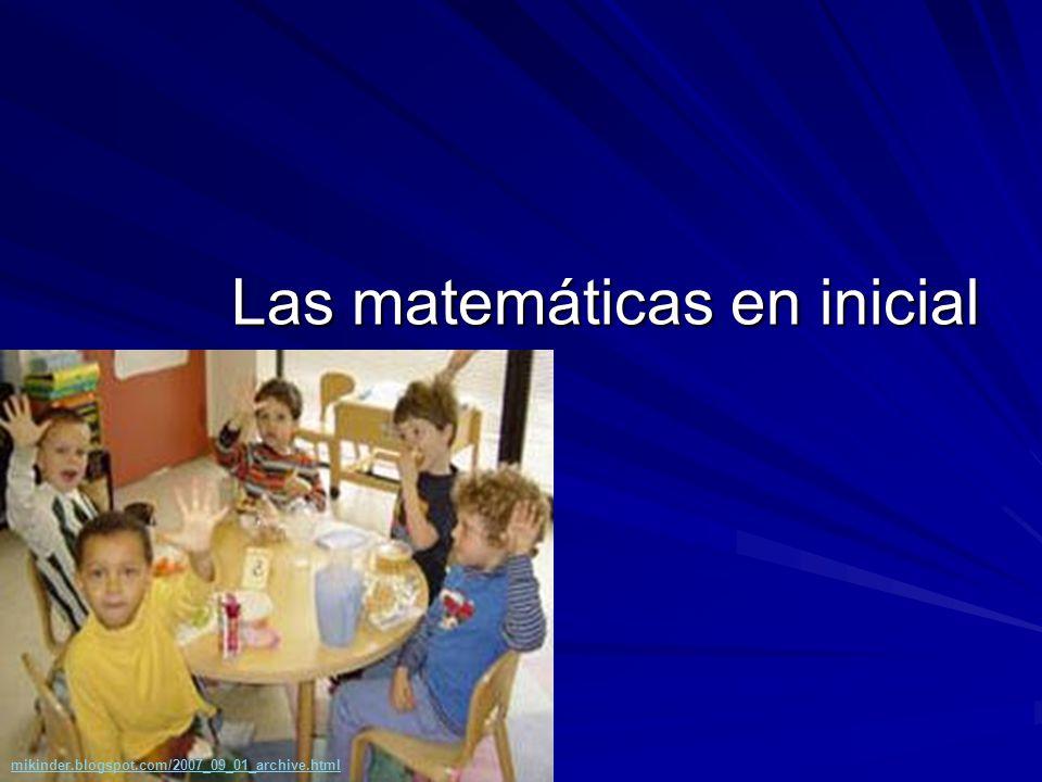 Las matemáticas en inicial