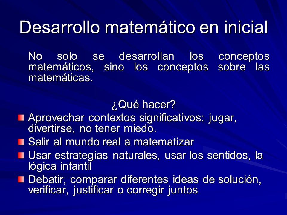 Desarrollo matemático en inicial