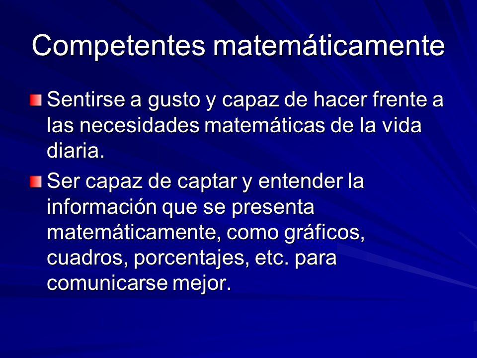 Competentes matemáticamente