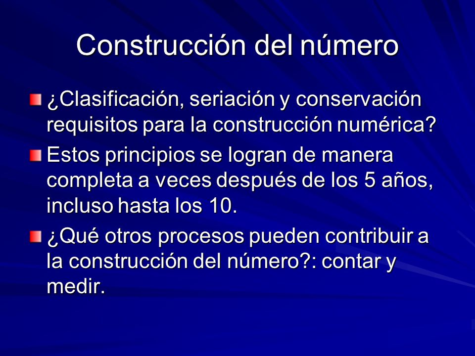 Construcción del número