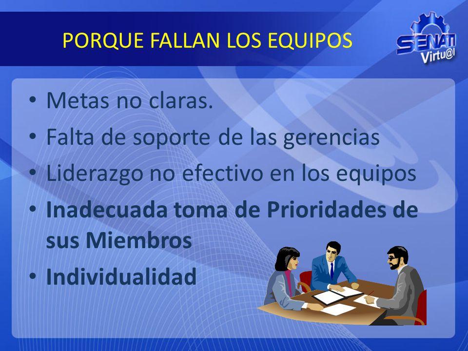 PORQUE FALLAN LOS EQUIPOS