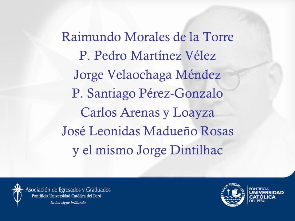 Raimundo Morales de la Torre P. Pedro Martínez Vélez