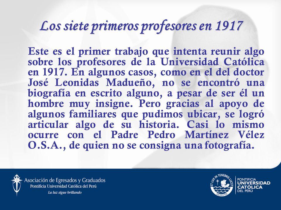 Los siete primeros profesores en 1917