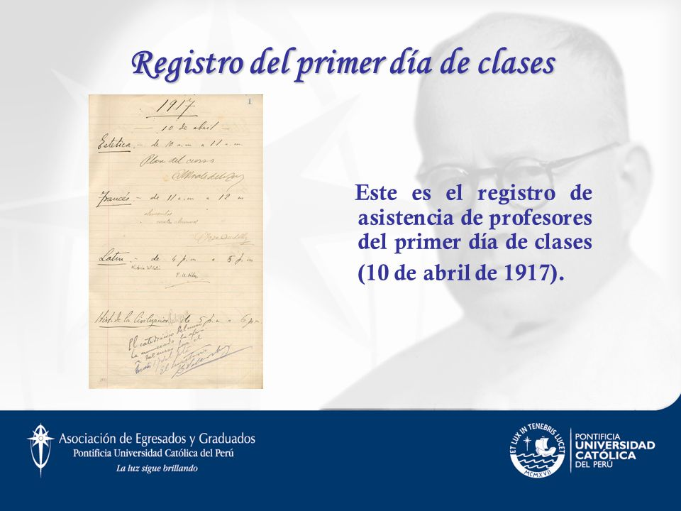 Registro del primer día de clases
