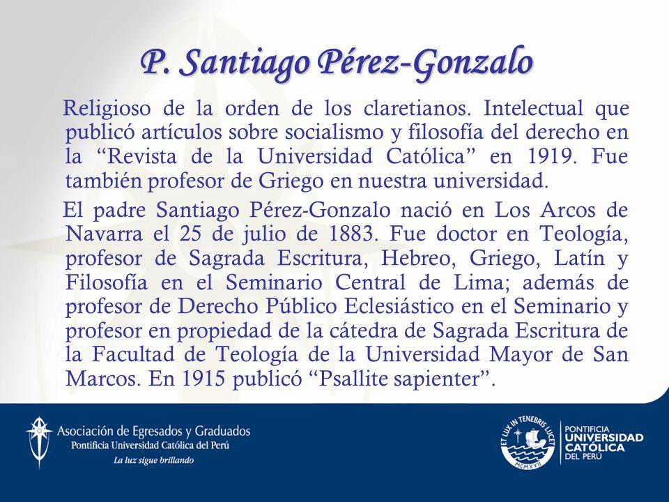 P. Santiago Pérez-Gonzalo